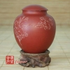 1984 Yixing Fang Yuan Brand Red Clay Orchid Tea Canister